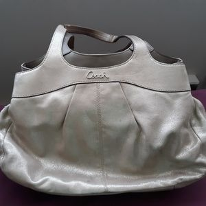 Shiny Gold Coach Bag
